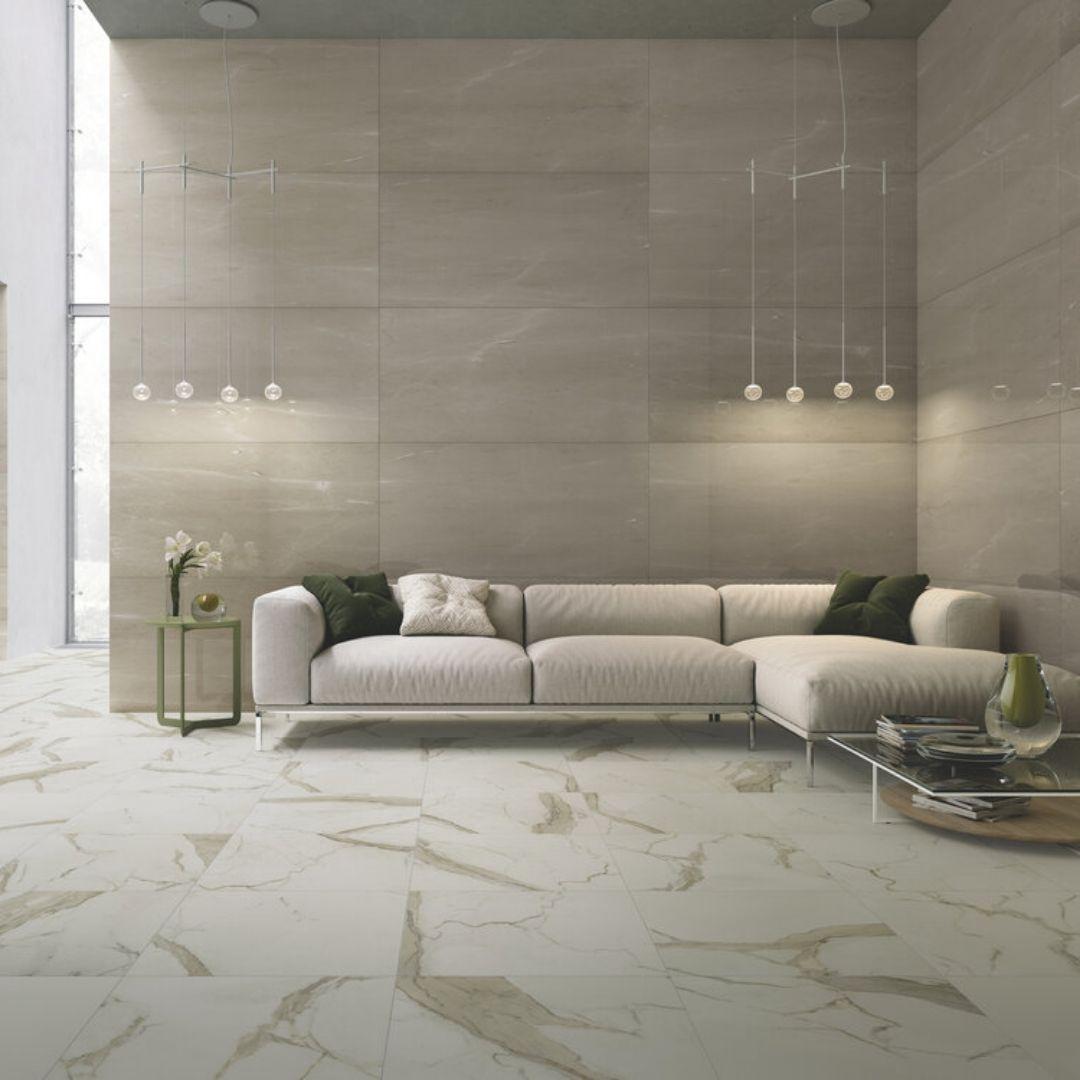 Lusso Calacatta Oro soft Ajami surfaces flooring in miami
